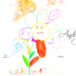 Andrey Soul Boy Flower Smile Ants Motivation Stars Picture Drawing with Markers and Pastel 2019