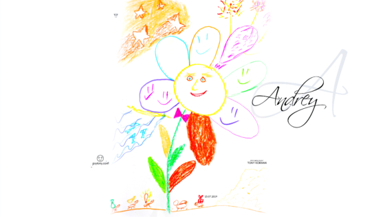 Andrey-Soul-Boy-Flower-Smile-Ants-Motivation-Stars-Picture-Drawing-with-Markers-and-Pastel-2019-Multicolors-4K-Wallpapers-by-Psychologist-Tony-Kokhan-www.psytony.com-image
