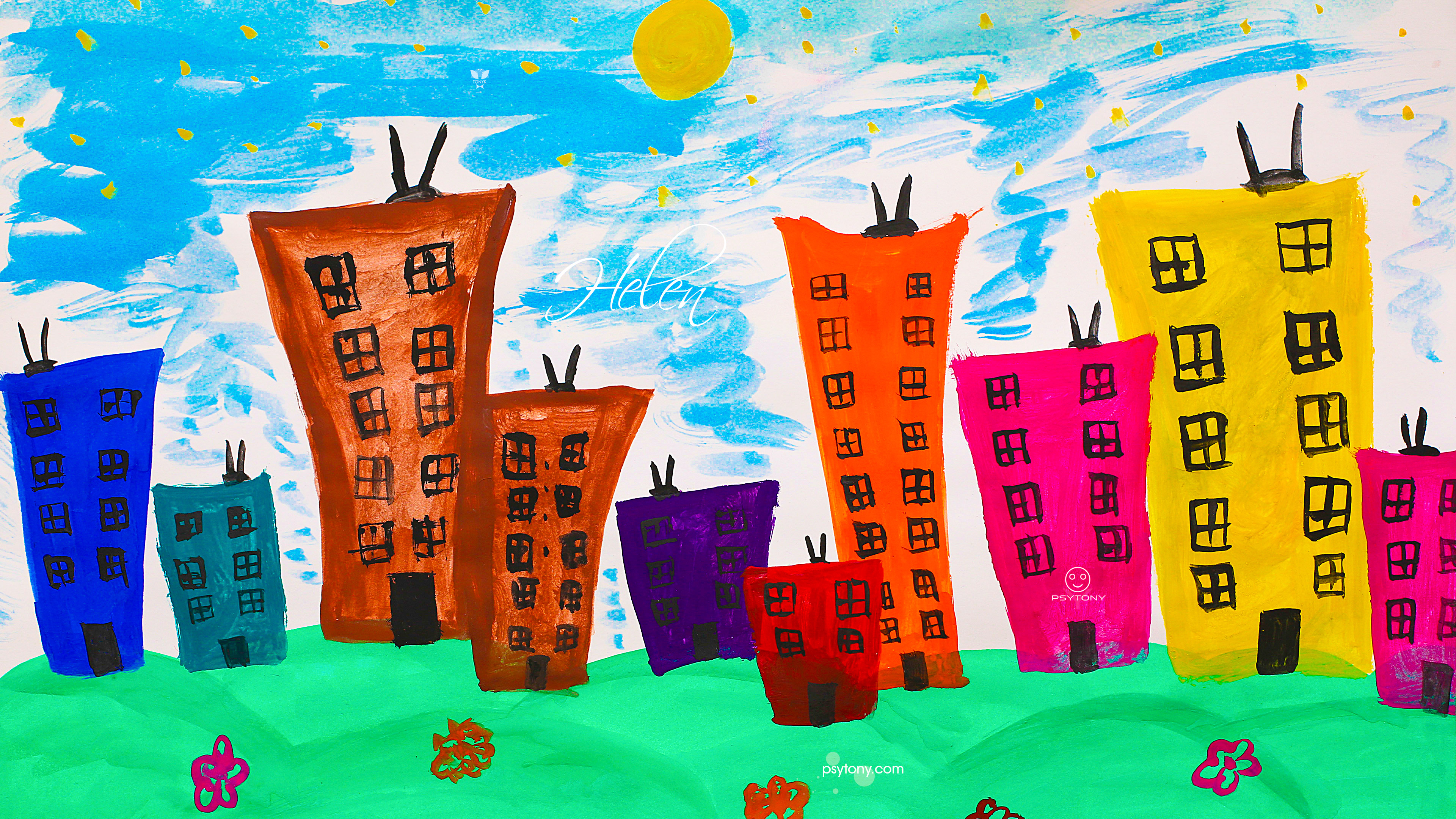 Helen-Soul-Girl-Building-Fears-People-Sky-Sun-Nature-World-Psy-TonyPsy-Picture-Drawing-Paints-Art-2019-Multicolors-4K-Wallpapers-by-Psychologist-Tony-Kokhan-www.psytony.com-image