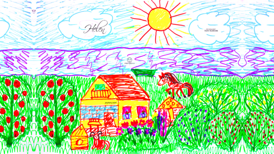 Helen-Soul-Girl-Nature-Sun-Water-Home-Horse-Dog-Animal-Summer-Drawing-With-Markers-Soul-Art-Style-2019-Multicolors-4K-Wallpapers-by-Psychologist-Tony-Kokhan-www.psytony.com-image