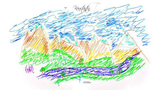 Konstantin-Soul-Boy-Nature-Mountains-Sky-River-Art-Picture-Drawing-With-Markers-2019-Multicolors-4K-Wallpapers-by-Psychologist-Tony-Kokhan-www.psytony.com-image