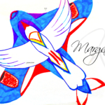 Margarita Soul Girl Super Bird And Aircraft Fly Drawing With Markers Soul Art Style 2019