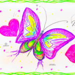 Maria Soul Girl Butterfly Super Fly Love Heart Art Style Picture Drawing With Markers 2019
