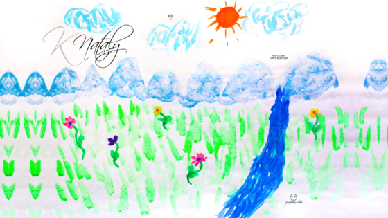 Nataly-Soul-Girl-Nature-River-Mountains-Sun-Flowers-Art-Picture-Drawing-With-Watercolor-2019-Multicolors-4K-Wallpapers-by-Psychologist-Tony-Kokhan-www.psytony.com-image