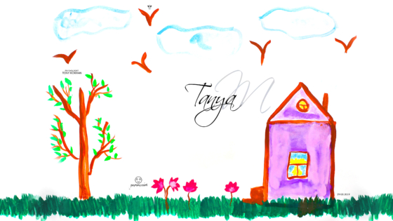 Tanya-Soul-Girl-Nature-Home-Tree-Grass-Flowers-Sky-Birds-Art-Picture-Drawing-with-Watercolor-2019-Multicolors-4K-Wallpapers-by-Psychologist-Tony-Kokhan-www.psytony.com-image