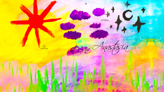 Anastasia-Soul-Girl-Sun-The-Clouds-are-Gathering-Moon-Stars-Nature-Before-Event-Picture-Drawing-with-Gouache-2019-Multicolors-4K-Wallpapers-by-Psychologist-Tony-Kokhan-www.psytony.com-image