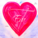 Eva Soul Girl Heart Love Figure Pink Blue Light Colors Art Picture Drawing with Gouache 2019
