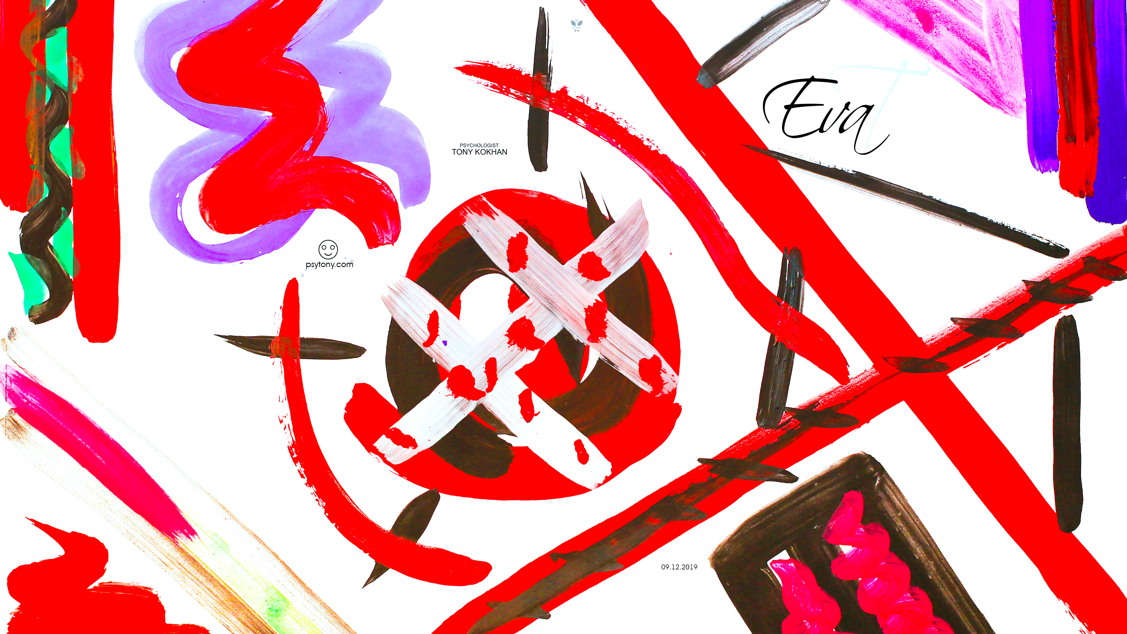 Eva-Soul-Girl-Passion-Blood-Character-Plane-Mother-War-Hitler-Prison-Letter-E-Abstract-Emotions-Picture-Gouache-Art-2019-Multicolors-4K-Wallpapers-by-Psychologist-Tony-Kokhan-www.psytony.com-image