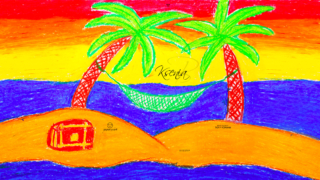Ksenia-Soul-Girl-Sea-Summer-Palm-Trees-Isle-Sand-Chest-Hidden-Treasures-Hammock-Relax-Picture-Drawing-with-Pastel-2019-Multicolors-4K-Wallpapers-by-Psychologist-Tony-Kokhan-www.psytony.com-image