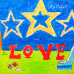 Ksenia Soul Girl Space Studio Christmas Tree Stars Love Shoe Heel Paints Balls Picture Drawing with Pastel 2019