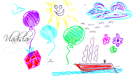 Vladislav-Soul-Boy-Smile-Sun-Face-Balloon-Present-Fly-Ship-Travel-Сlouds-Wings-Flowers-Birds-Picture-Drawing-Markers-Art-2019-Multicolors-4K-Wallpapers-by-Psychologist-Tony-Kokhan-www.psytony.com-image