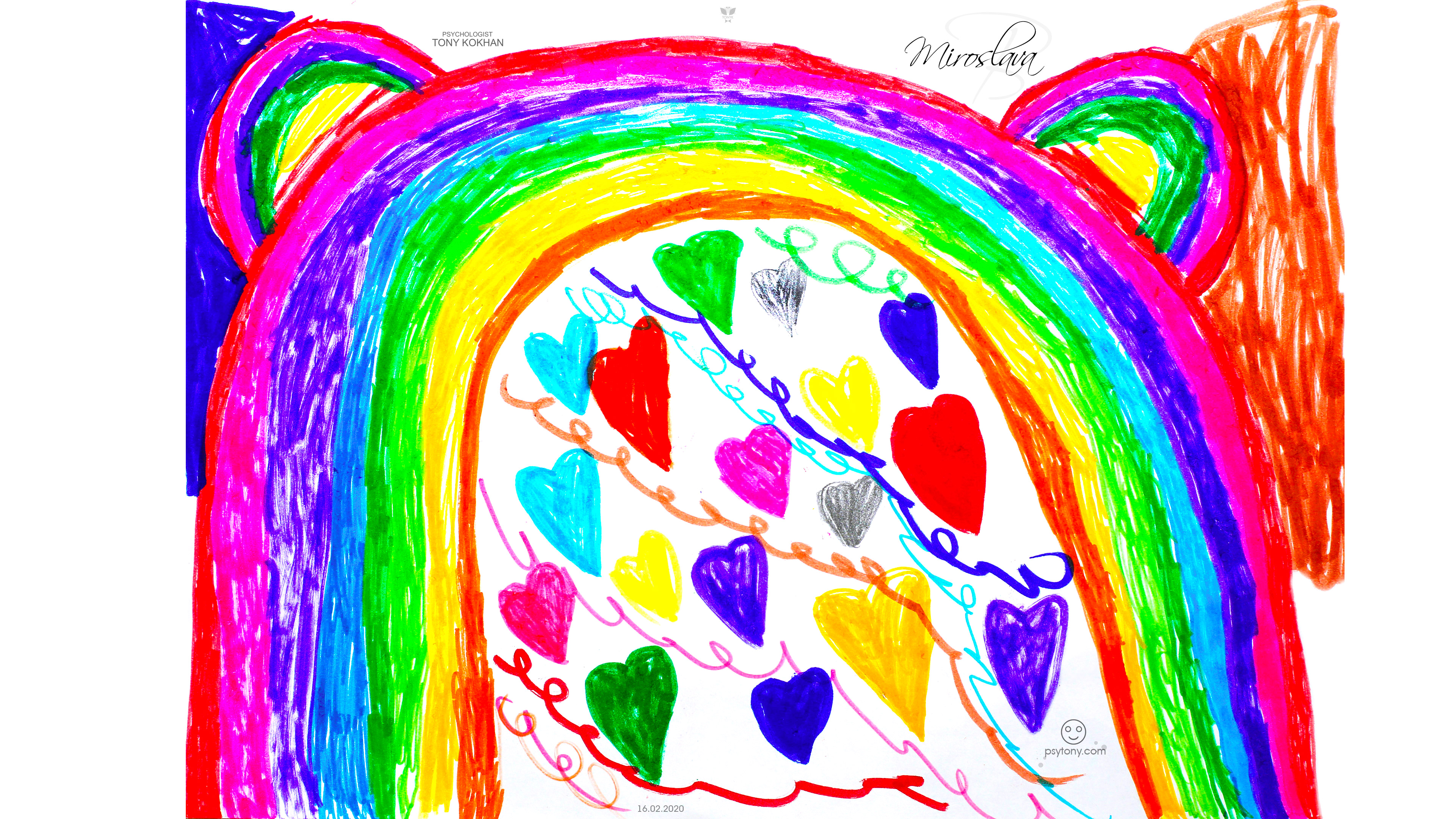 Miroslava-Soul-Girl-Rainbow-Ears-Many-Hearts-Love-Emotions-Threads-Energy-Markers-Picture-Art-2020-Multicolors-4K-Wallpapers-by-Psychologist-Tony-Kokhan-www.psytony.com-image