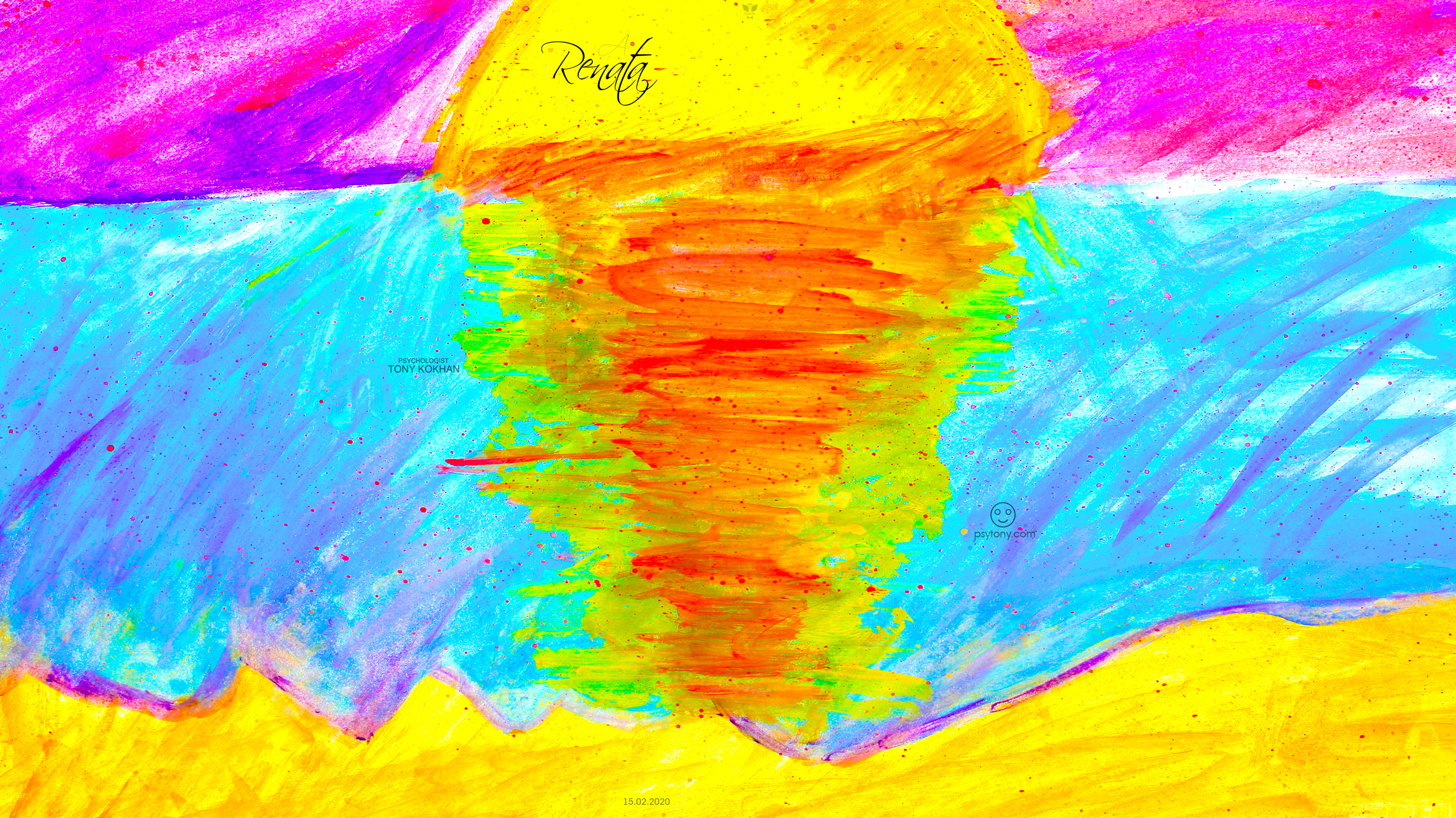 Renata-Soul-Girl-Sun-Sunset-Blood-Distortion-Inside-Deep-Reflection-Sand-Mountains-Gouache-Picture-Art-2020-Multicolors-4K-Wallpapers-by-Psychologist-Tony-Kokhan-www.psytony.com-image