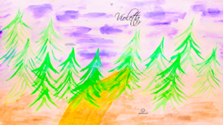 Violetta-Soul-Girl-Forest-Spruce-Trees-Road-Sky-Loneliness-Mud-Cold-Picture-Watercolor-2020-Multicolors-4K-Wallpapers-by-Psychologist-Tony-Kokhan-www.psytony.com-image