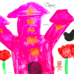 Daria Soul Girl Pink Castle Red Flowers Aircraft Baby Animals Sun Mushroom Seven Points Art 2020