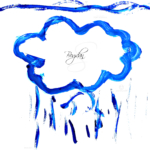 Bogdan Soul Boy Cry Sky Rain Cloud Gouache Art 2021